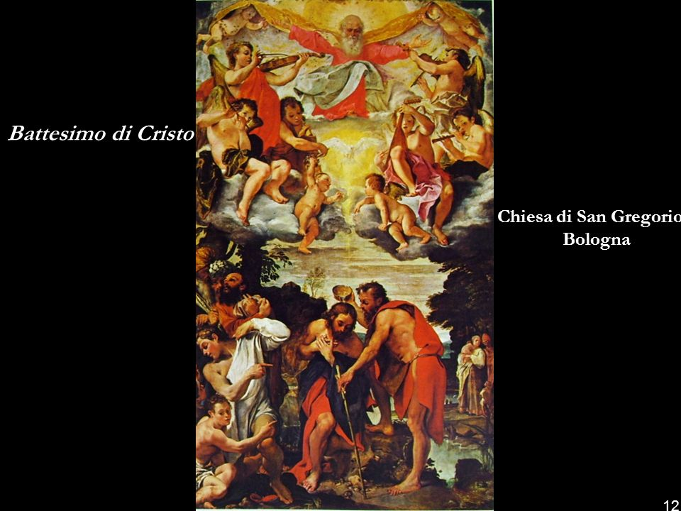 Battesimo di Cristo Chiesa di San Gregorio Bologna