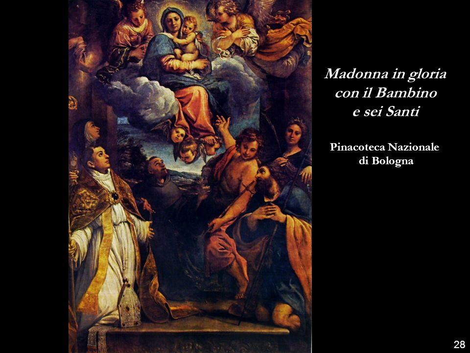 Madonna in gloria con il Bambino e sei Santi
