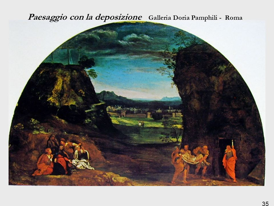 Paesaggio con la deposizione Galleria Doria Pamphili - Roma