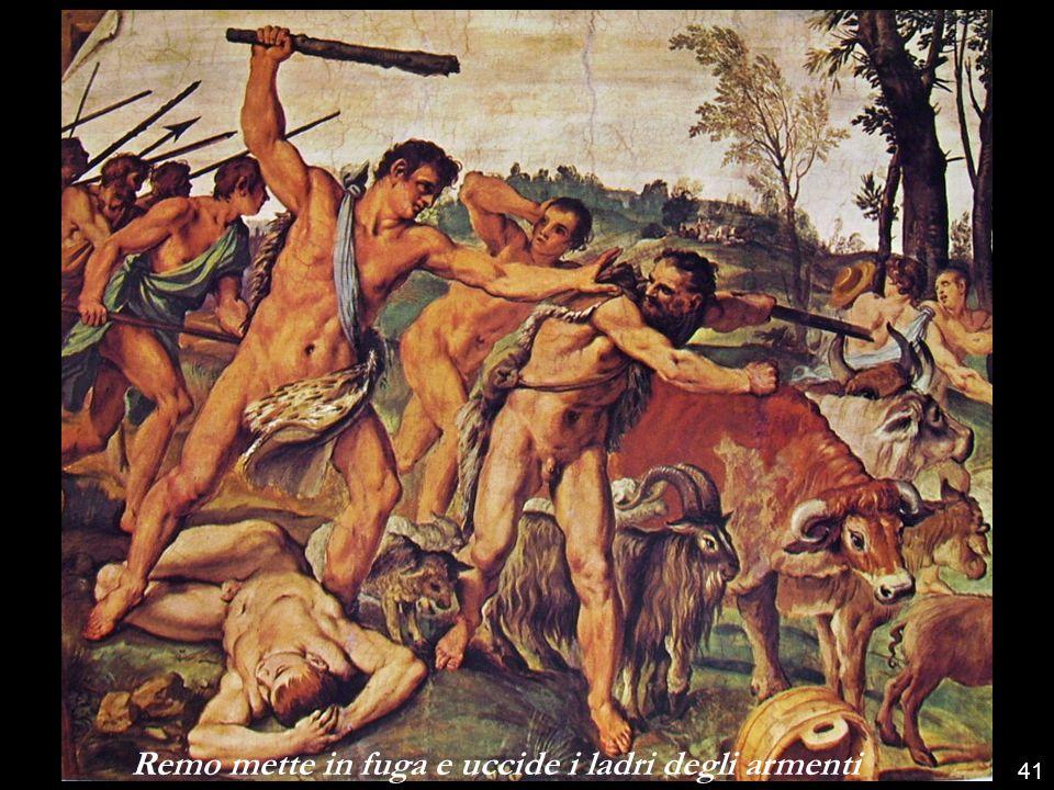 Remo mette in fuga e uccide i ladri degli armenti