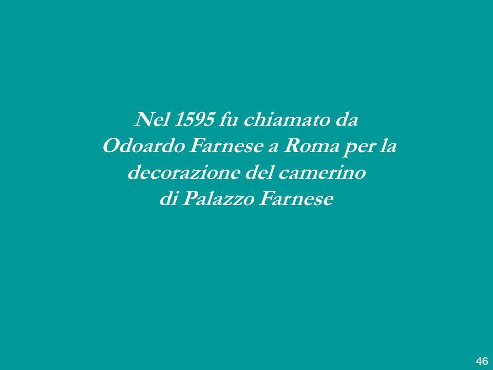 Odoardo Farnese a Roma per la decorazione del camerino