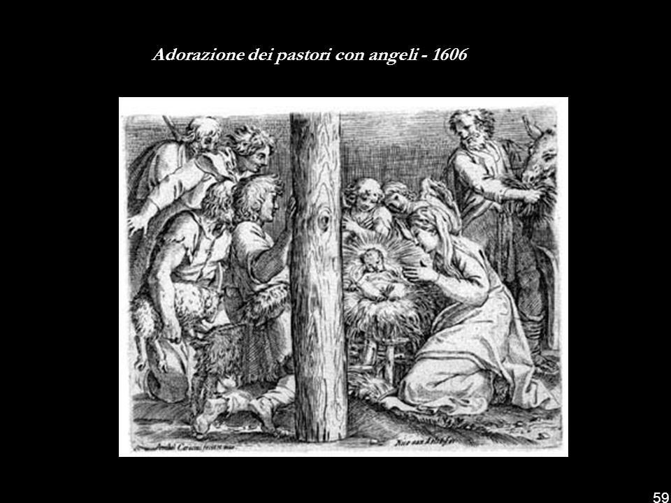 Adorazione dei pastori con angeli - 1606