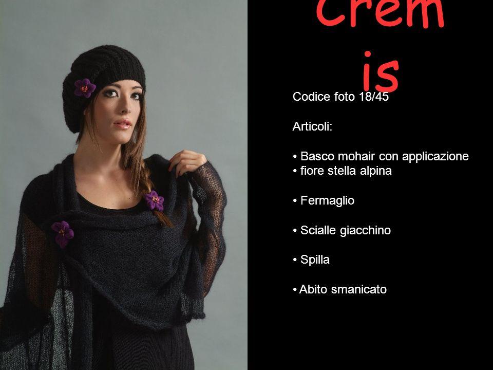 Cremis Codice foto 18/45 Articoli: Basco mohair con applicazione