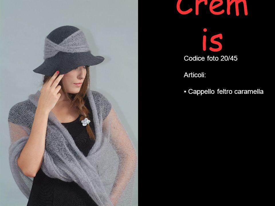 Cremis Codice foto 20/45 Articoli: Cappello feltro caramella