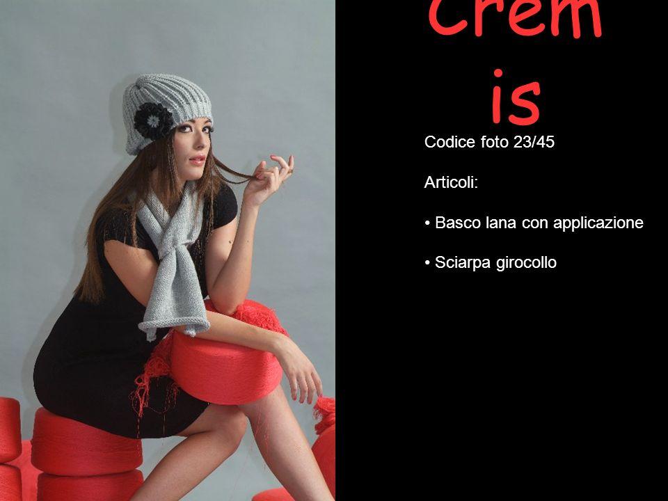 Cremis Codice foto 23/45 Articoli: Basco lana con applicazione
