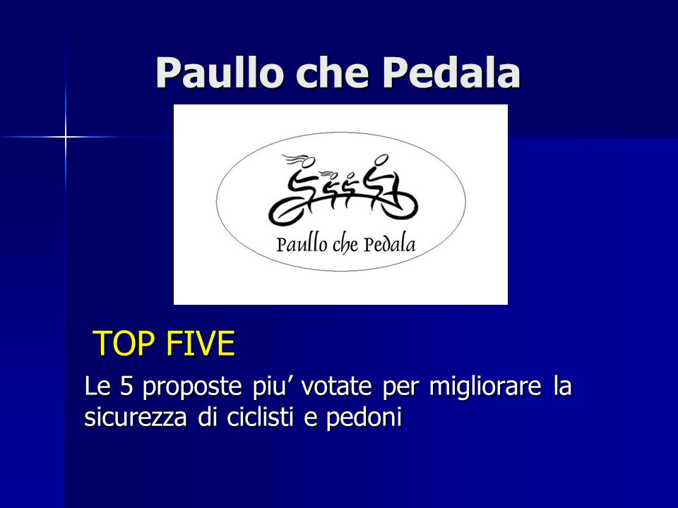 Paullo che Pedala TOP FIVE