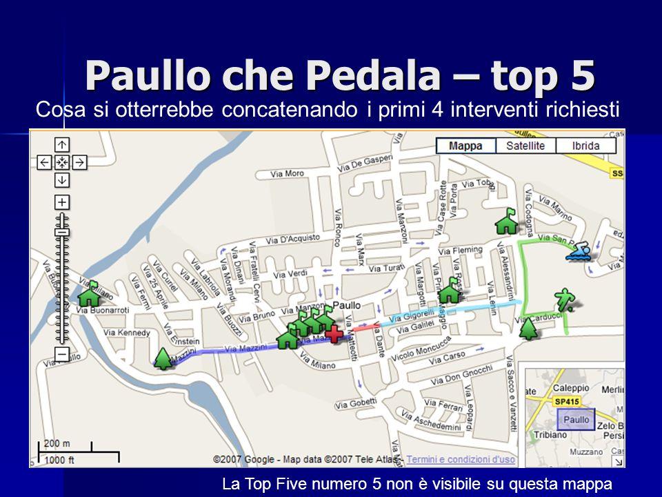 Paullo che Pedala – top 5 Cosa si otterrebbe concatenando i primi 4 interventi richiesti.