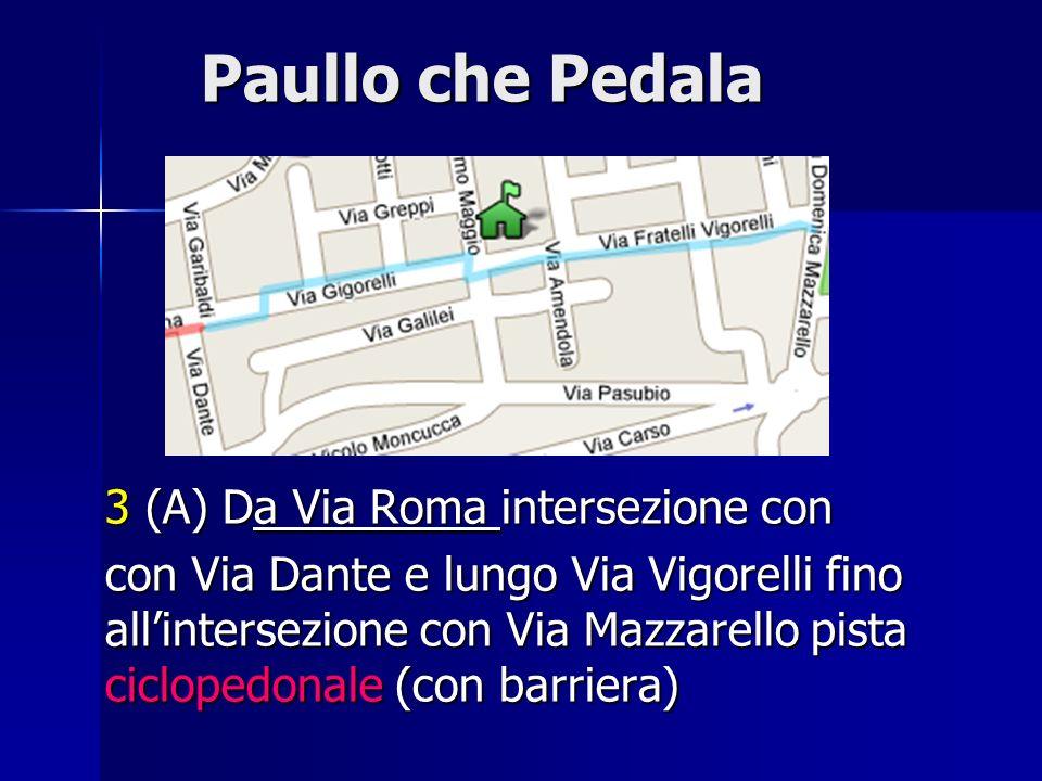 Paullo che Pedala 3 (A) Da Via Roma intersezione con