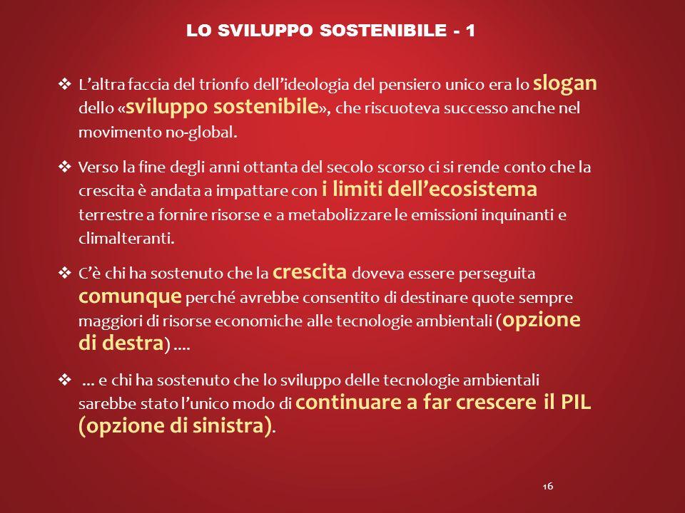 LO SVILUPPO SOSTENIBILE - 1