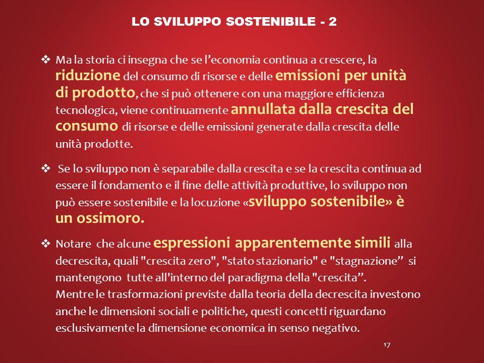 LO SVILUPPO SOSTENIBILE - 2