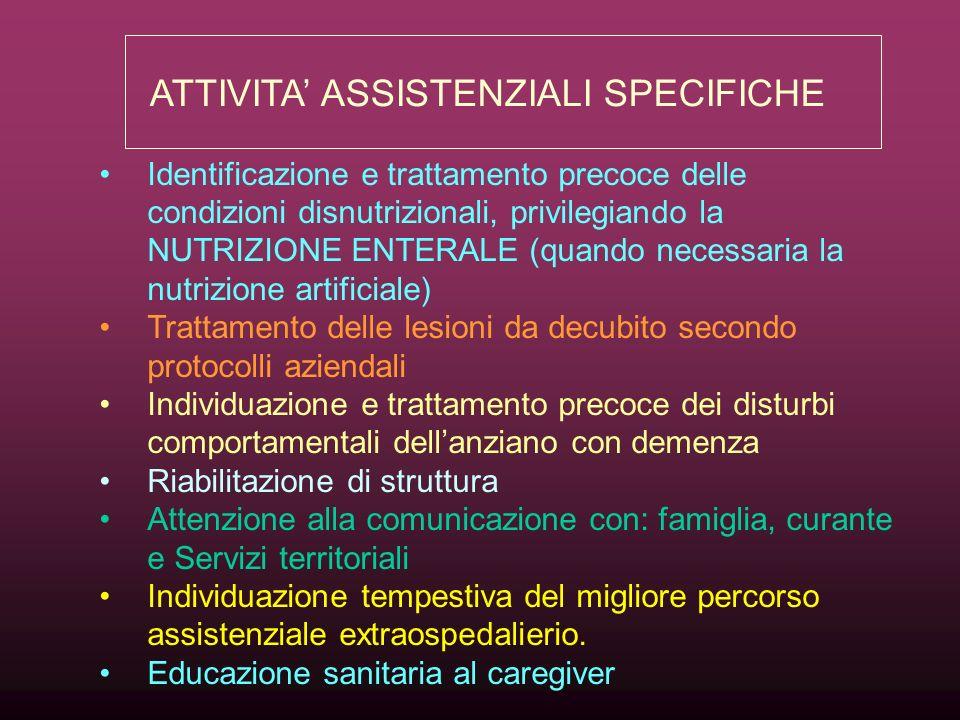 ATTIVITA' ASSISTENZIALI SPECIFICHE