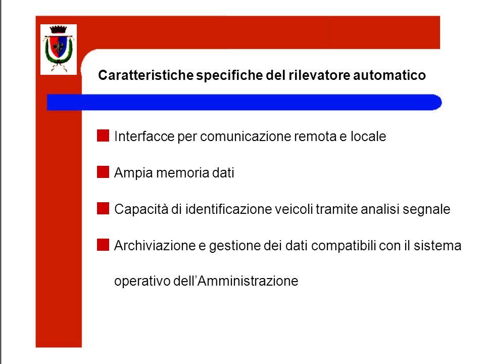 Caratteristiche specifiche del rilevatore automatico