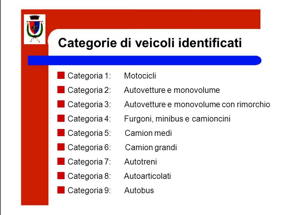 Categorie di veicoli identificati