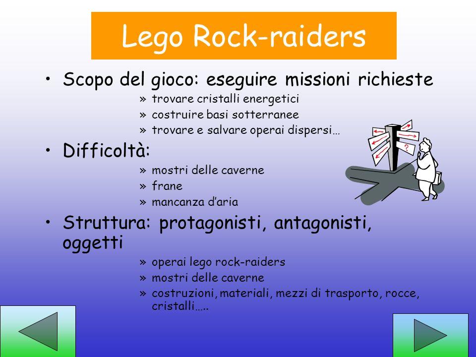 Lego Rock-raiders Scopo del gioco: eseguire missioni richieste