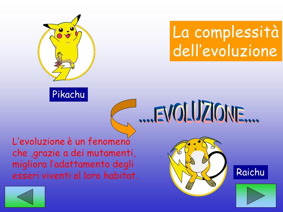 La complessità dell'evoluzione ....EVOLUZIONE.... Pikachu