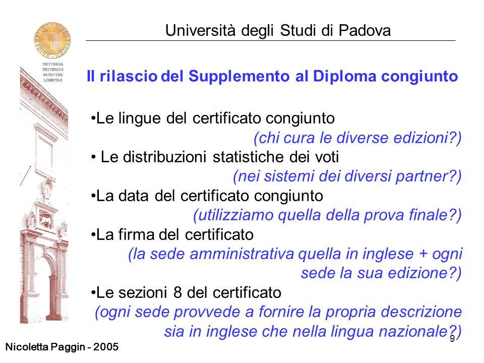 Il rilascio del Supplemento al Diploma congiunto