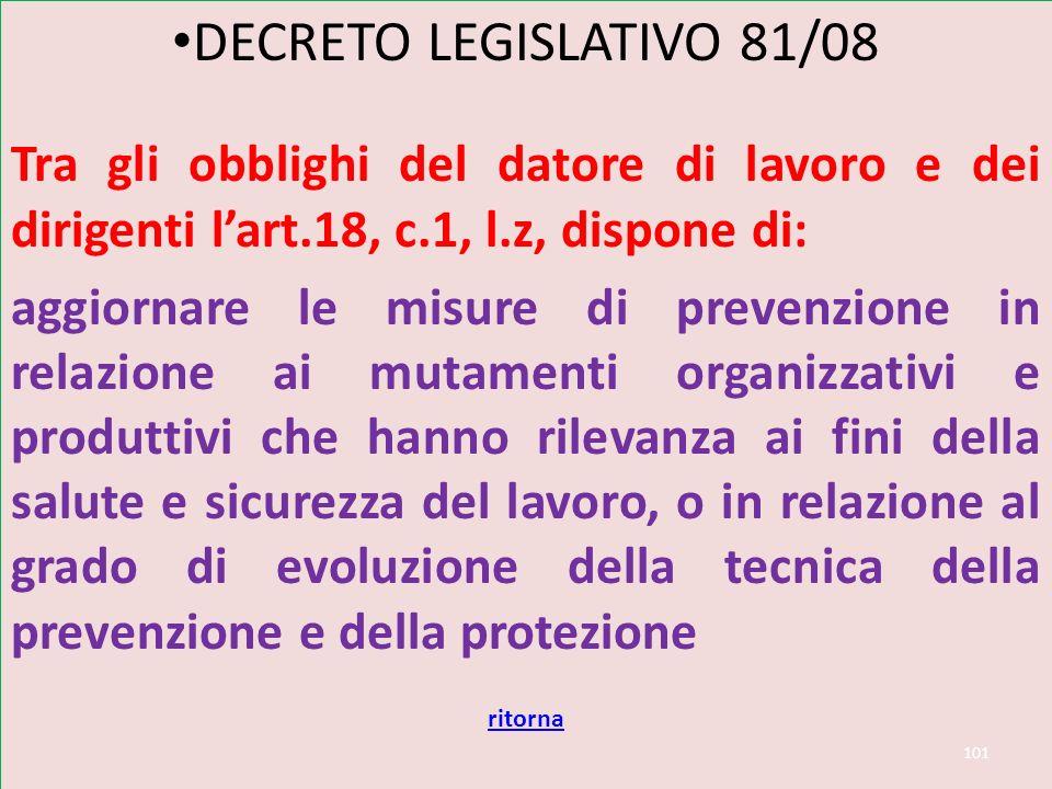 Dl 81/08 art 18 DECRETO LEGISLATIVO 81/08