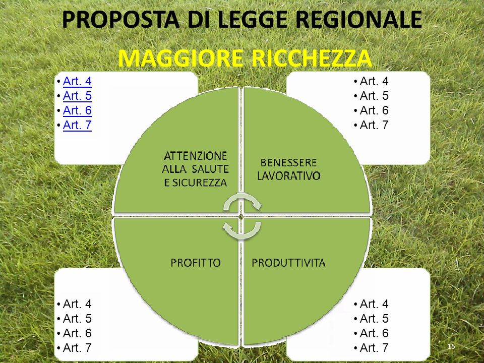 PROPOSTA DI LEGGE REGIONALE MAGGIORE RICCHEZZA