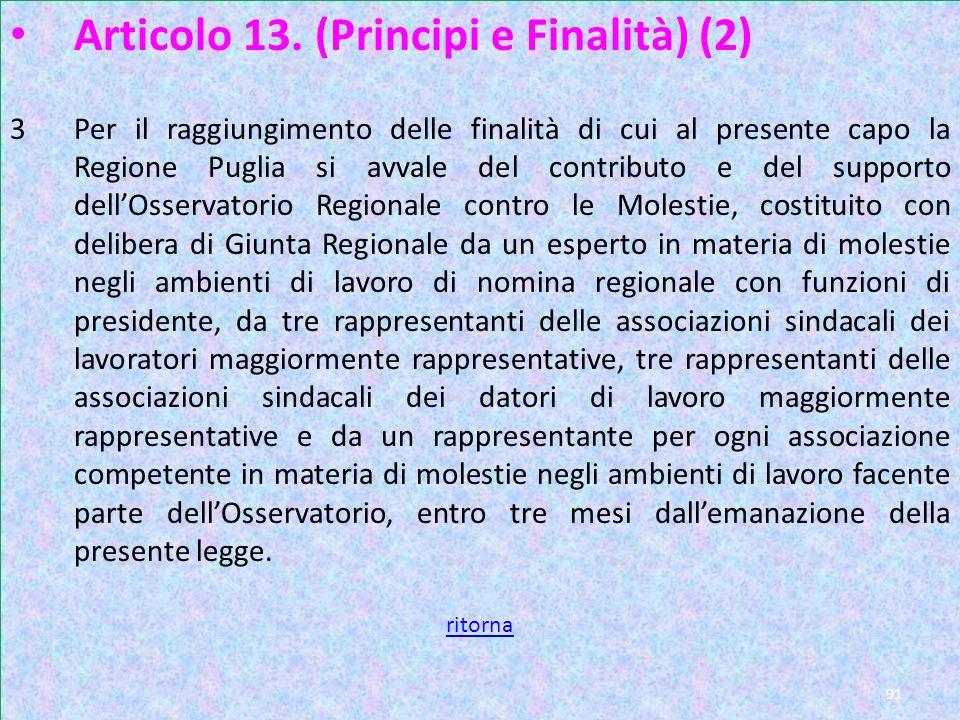 Art 13 pag 2 Articolo 13. (Principi e Finalità) (2)