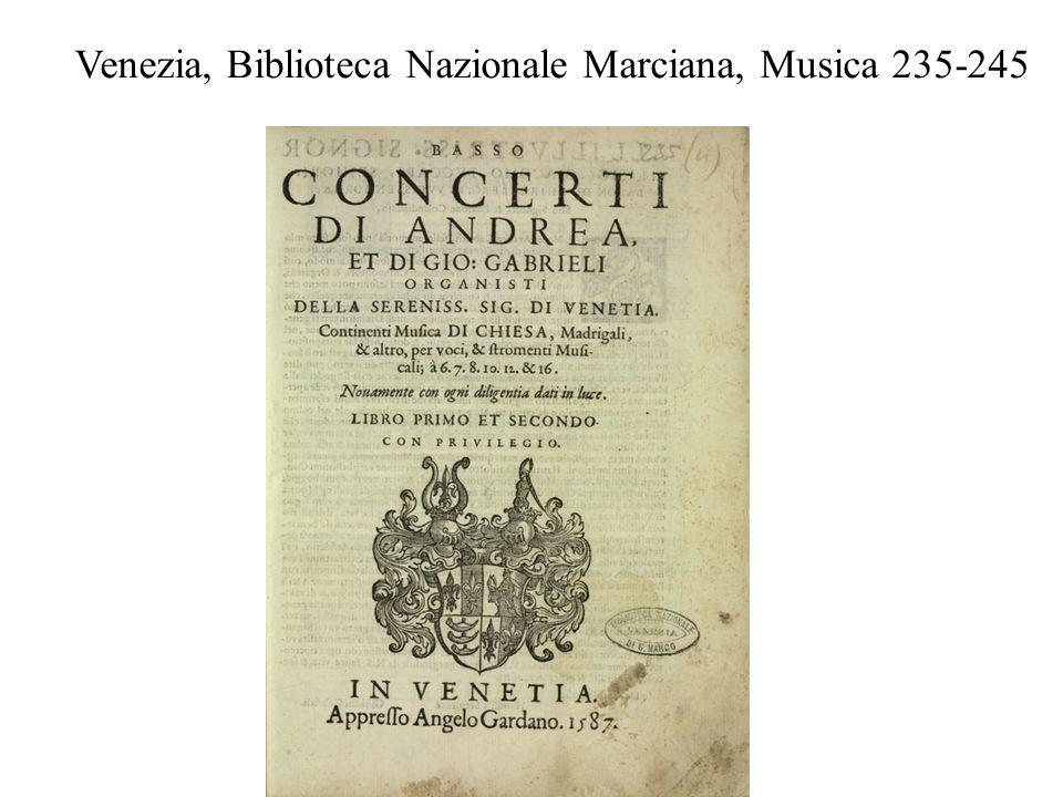 Venezia, Biblioteca Nazionale Marciana, Musica 235-245