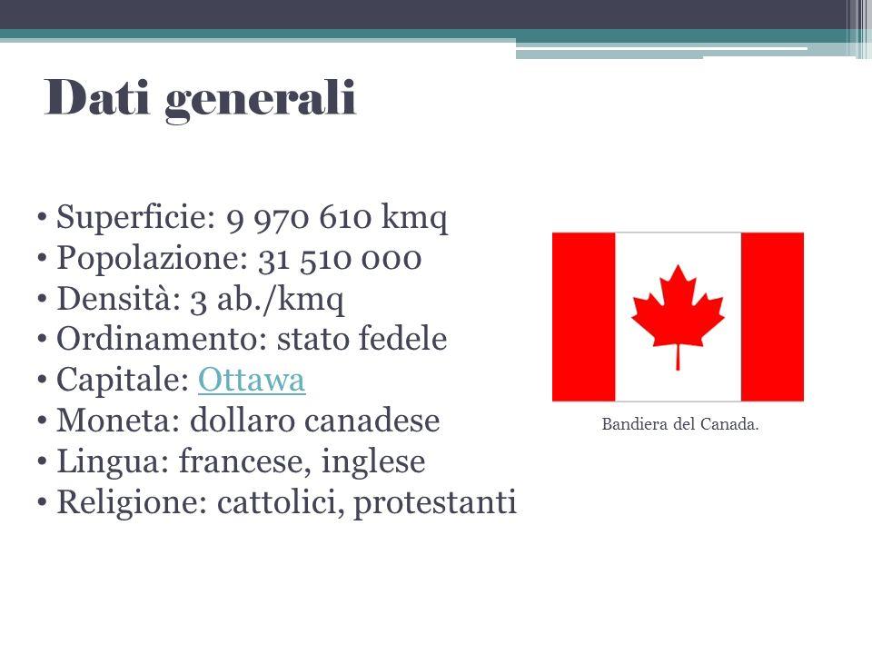 Dati generali Superficie: 9 970 610 kmq Popolazione: 31 510 000
