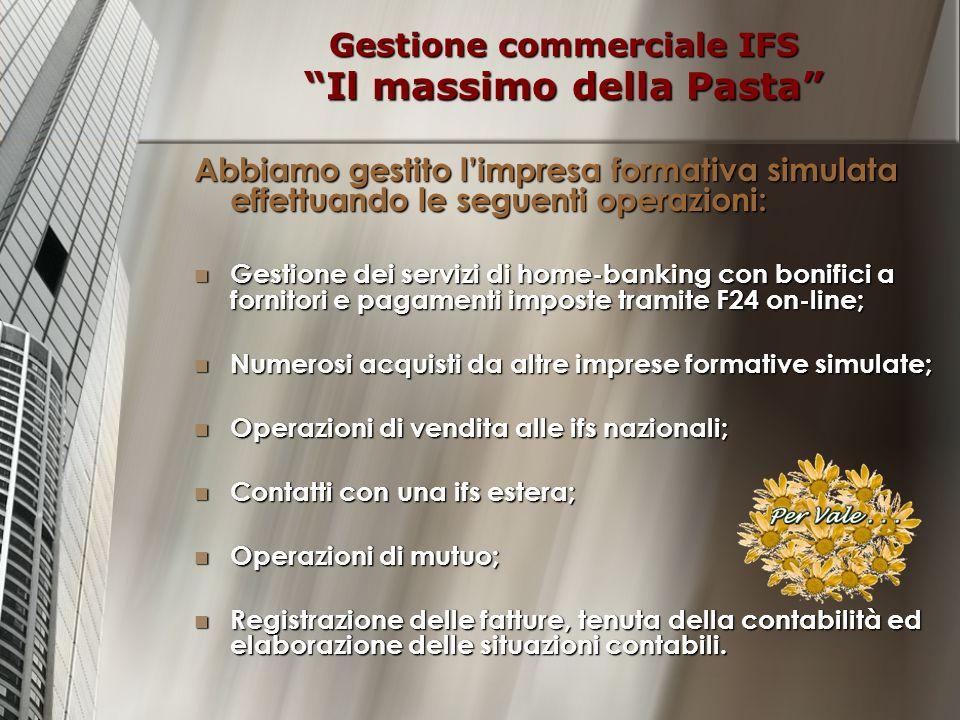 Gestione commerciale IFS Il massimo della Pasta