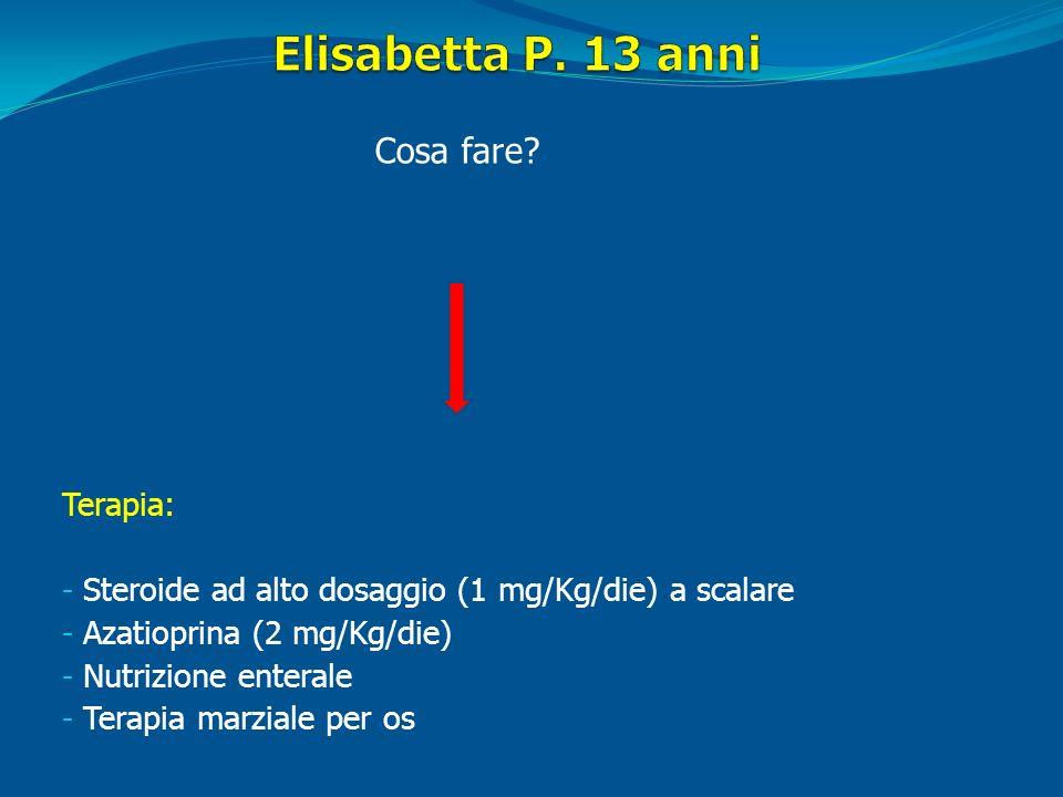 Elisabetta P. 13 anni Cosa fare Terapia: