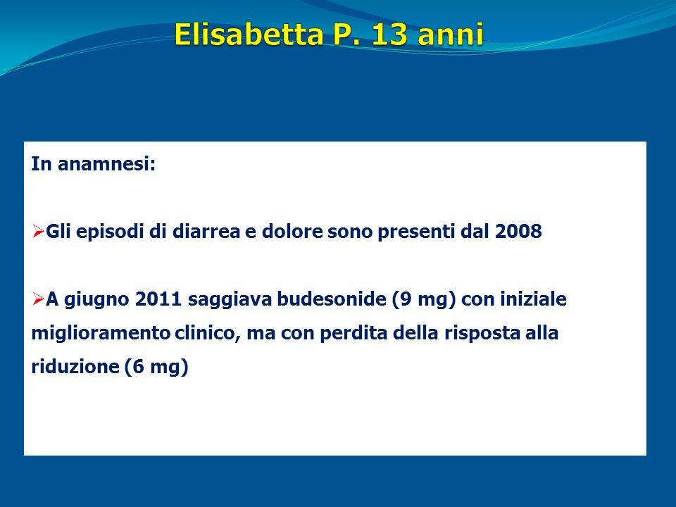 Elisabetta P. 13 anni In anamnesi: