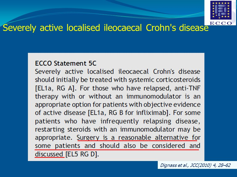 Severely active localised ileocaecal Crohn s disease