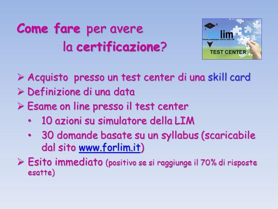 Come fare per avere la certificazione