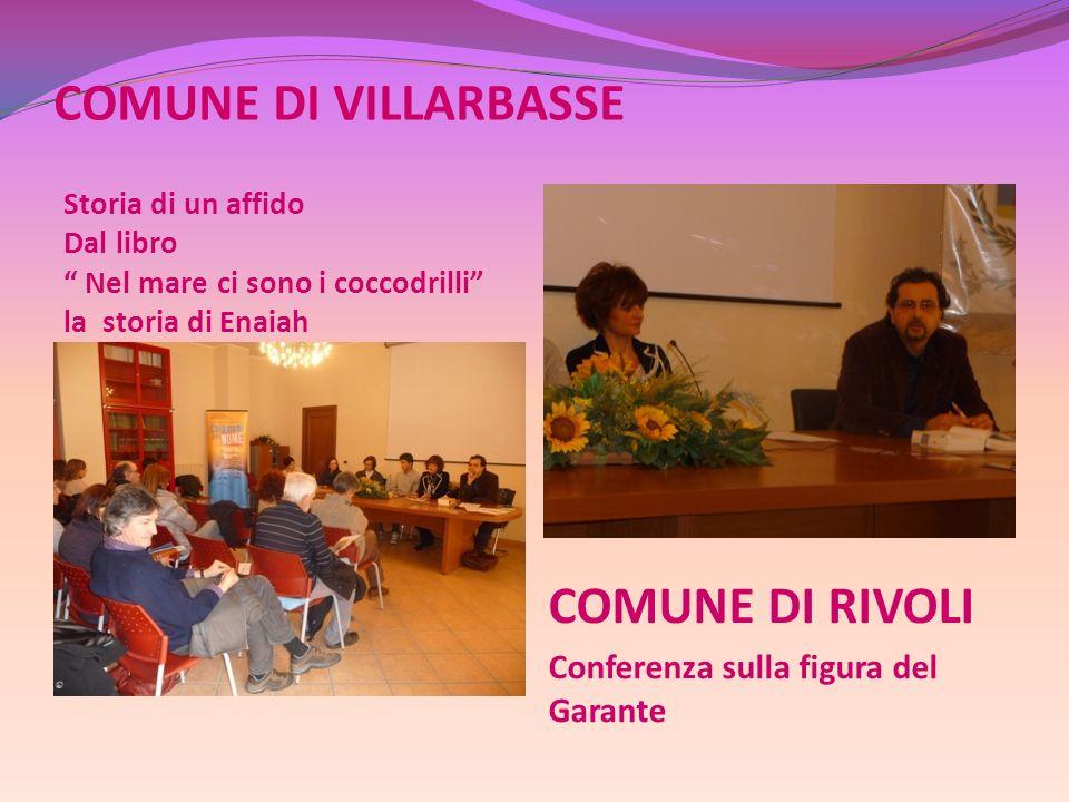 COMUNE DI VILLARBASSE COMUNE DI RIVOLI