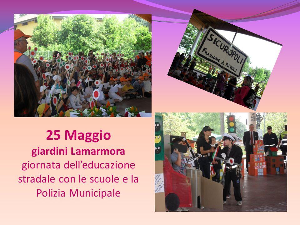 25 Maggio giardini Lamarmora giornata dell'educazione stradale con le scuole e la Polizia Municipale