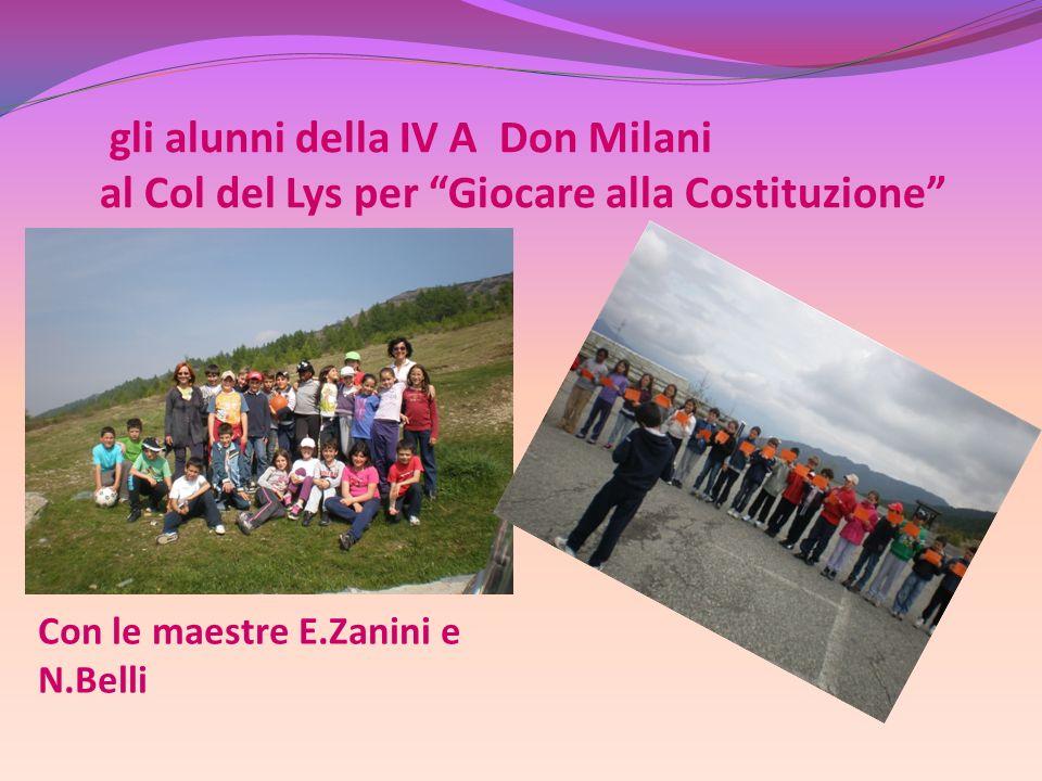 gli alunni della IV A Don Milani al Col del Lys per Giocare alla Costituzione