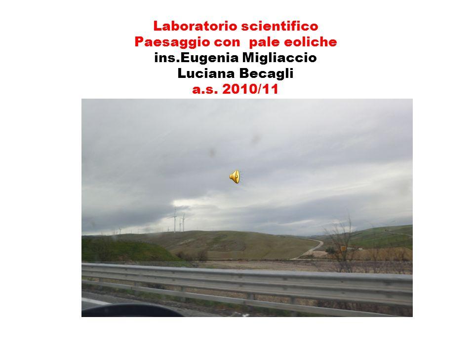 Laboratorio scientifico Paesaggio con pale eoliche ins