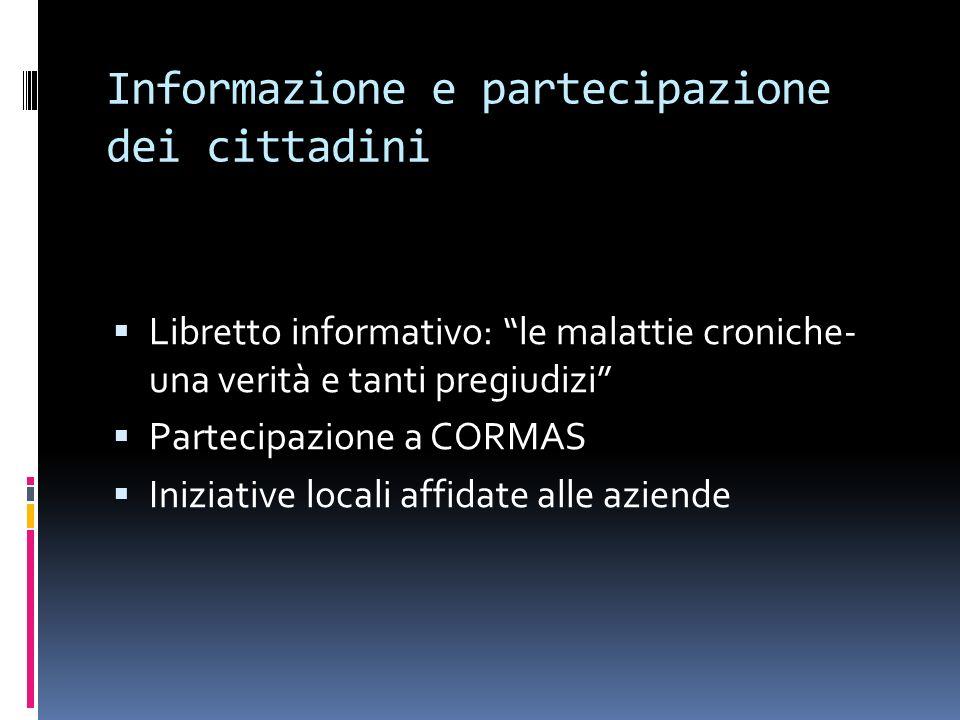 Informazione e partecipazione dei cittadini