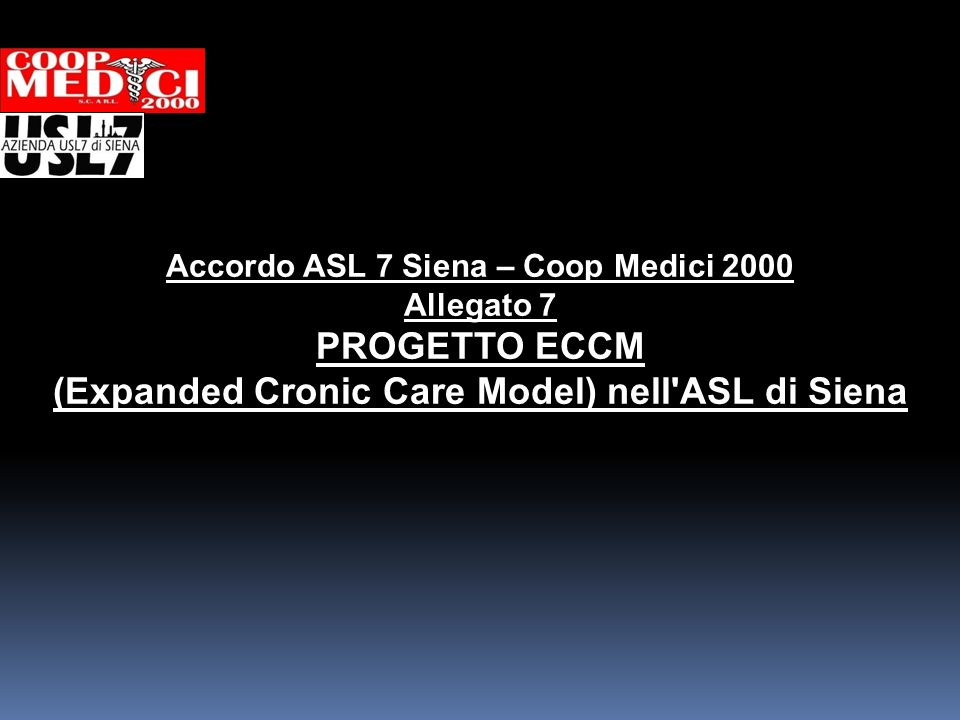 (Expanded Cronic Care Model) nell ASL di Siena
