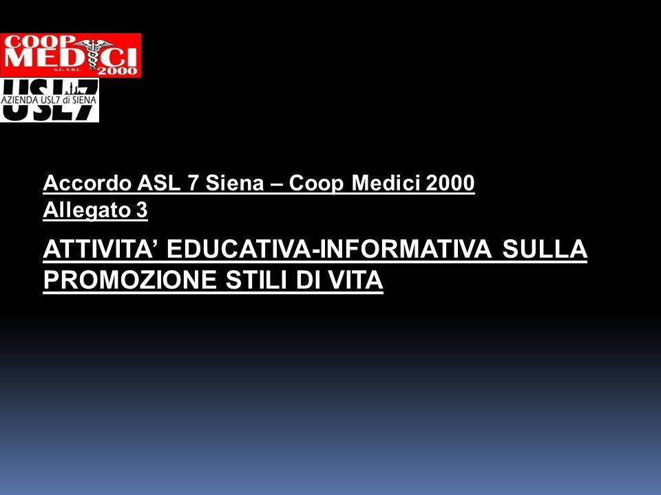 ATTIVITA' EDUCATIVA-INFORMATIVA SULLA PROMOZIONE STILI DI VITA