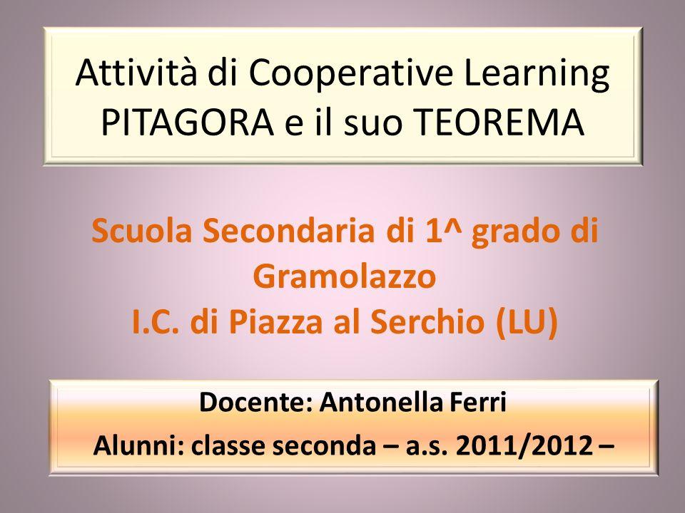 Attività di Cooperative Learning PITAGORA e il suo TEOREMA