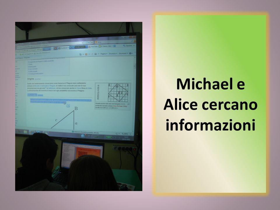 Michael e Alice cercano informazioni