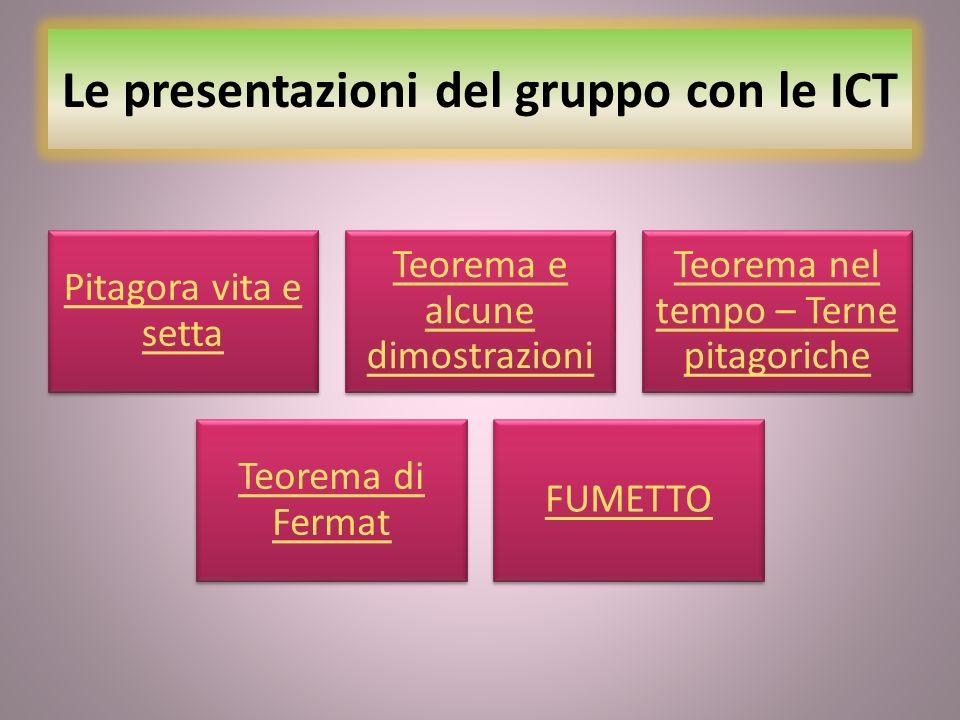 Le presentazioni del gruppo con le ICT