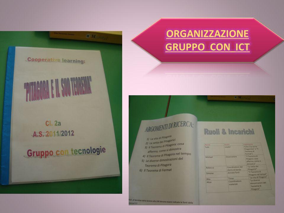 ORGANIZZAZIONE GRUPPO CON ICT