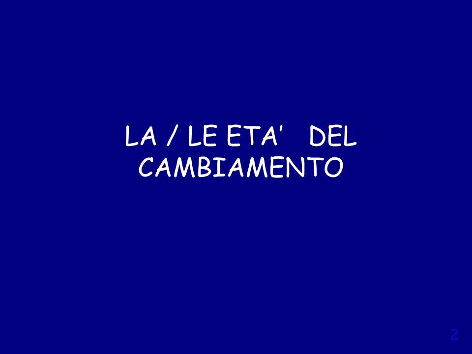 LA / LE ETA' DEL CAMBIAMENTO