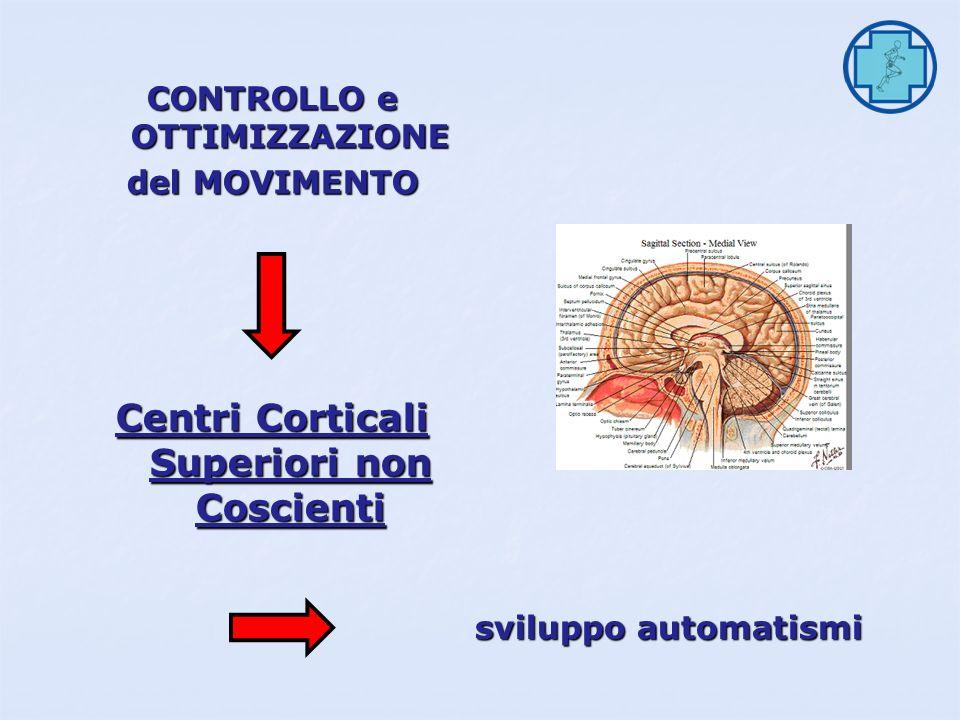 CONTROLLO e OTTIMIZZAZIONE Centri Corticali Superiori non Coscienti