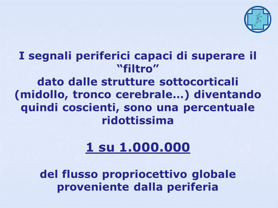 1 su 1.000.000 I segnali periferici capaci di superare il filtro
