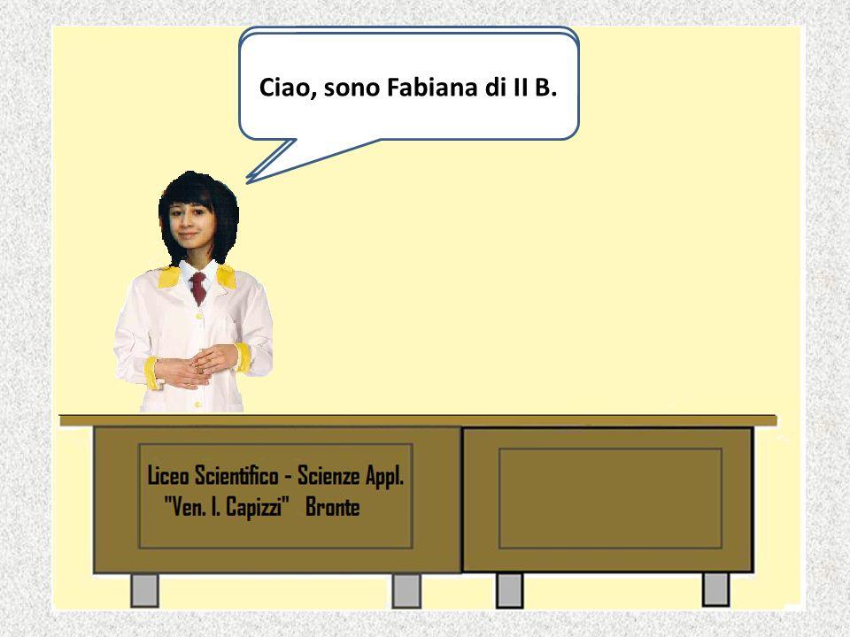 Ciao, sono Fabiana di II B.