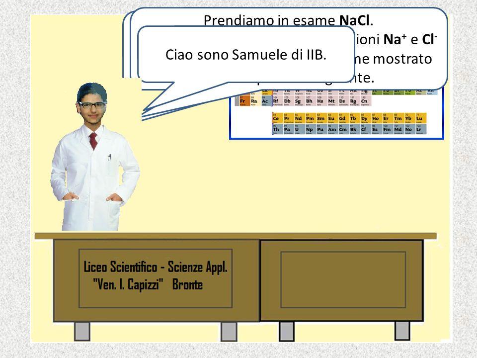 Prendiamo in esame NaCl.