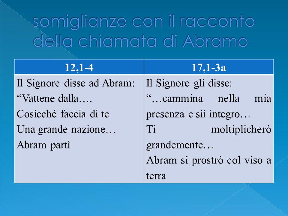 somiglianze con il racconto della chiamata di Abramo