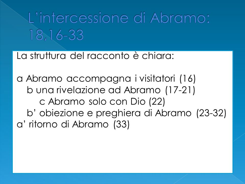 L'intercessione di Abramo: 18,16-33