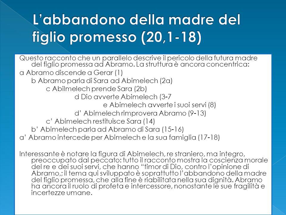 L'abbandono della madre del figlio promesso (20,1-18)
