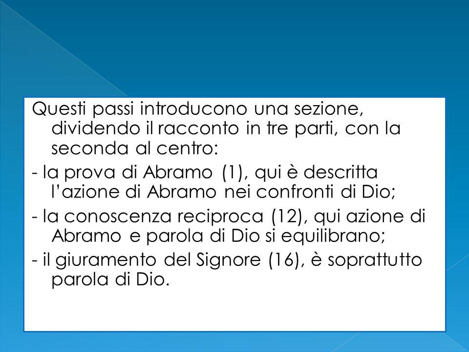 Questi passi introducono una sezione, dividendo il racconto in tre parti, con la seconda al centro: